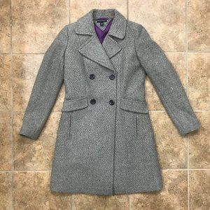 Tommy Hilfiger Tweed Double Breasted Peacoat, XS